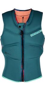 2021 Mystic Diva Front Zip Kite Impact Vest 200111 Voor Dames - Teal