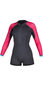 2020 Mystic Diva Manga Longa 2mm Front Zip Shorty Wetsuit 200071 - Cinza Fantasma