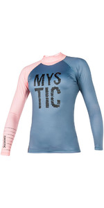 Mystic Womens Dutchess L / S Rash Vest Pewter 170294