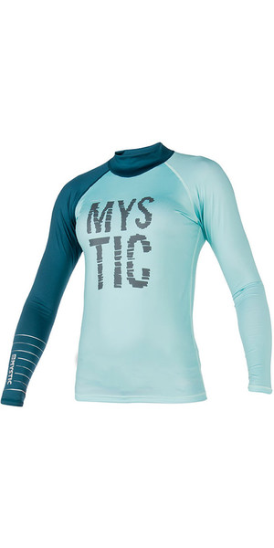2018 Mystic Womens Dutchess L / S Rash Vest Teal 170294