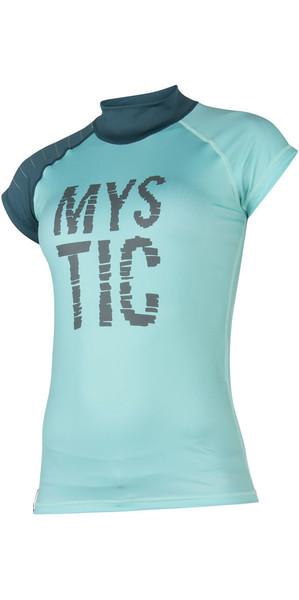 2018 Mystic Womens Dutchess S /  S Rash Vest Teal 170295