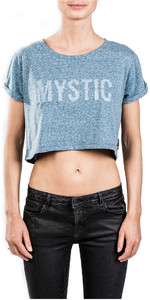 Mystic Womens Flutter Tee Powder Blue 180530