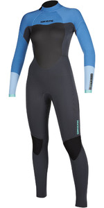 2019 Mystic Vrouwen Star 3/2mm Back Zip Wetsuit 200028 - Menthol Blauw