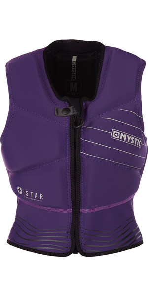 2019 Mystic Womens Star Front Zip Kite Impact Vest Purple 180090