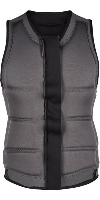 Black Mystic 2020 Womens Star Wake Boarding Front-Zip Impact Vest