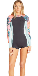 2019 Billabong Womens Spring Fever 2mm LS Spring Wetsuit Coral Bay N42G02