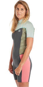 2019 Billabong Womens Furnace Synergy 2mm Shorty Wetsuit Seafoam N42G04