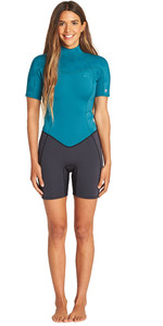 2019 Billabong Das Mulheres Synergy 2mm Shorty Wetsuit Pacific N42g04