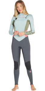 2019 Billabong Vrouwen Furnace Synergy 3/2mm Chest Zip Gbs Wetsuit Seafoam N43g03