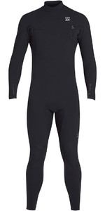 2019 Billabong Heren 3 / 2mm Pro Series Borst Zip Wetsuit Zwart N43M01