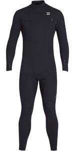2019 Billabong Mens 3/2mm Pro Series Chest Zip Wetsuit Black N43M01