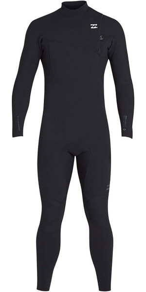 2019 Billabong Mens 3 / 2mm Pro Series Mute zip petto nere N43M01
