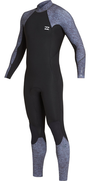 2019 Billabong Mens 4 / 3mm Forno de Volta Absoluto Zip GBS Wetsuit Cinza Urze N44M35