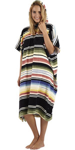 2019 Billabong Womens Salty Hooded Changing Robe / Poncho Serape N4BR20