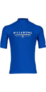 2019 Billabong Herenunit Korte Mouw Rash Vest Royal N4my01