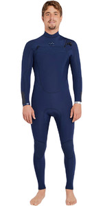 Billabong Absolute Comp 5 / 4mm cofre Zip traje de neopreno NAVY F45M21