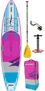 "2019 Naish Alana 11'6 ""x 32"" Fusion Stand Up Paddle Board Package Inc Paleta, bolsa, bomba y correa"
