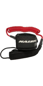 2020 Naish Coiled SUP Paddleboard Leash 93900 - Red