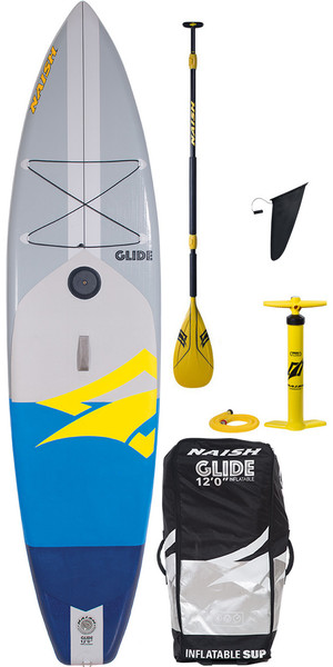 2018 Naish One Glide Crossover 12'0 Hinchable Stand Up Paddle Board Package