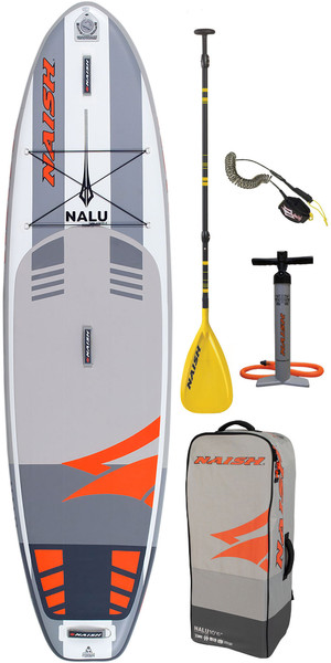 "2019 Naish Nalu 10'6 ""x 32"" Paquet De Conseil De Stand Up Paddle Board Inc Paddle, Sac, Pompe Et Laisse"