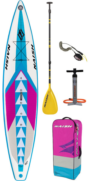 "2019 Naish One Alana 12'6 ""x 30"" Paquet De Paddle Board Pack Inc Paddle, Sac, Pompe Et Laisse"