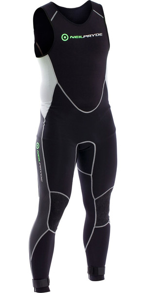 2018 Neil Pryde Elite Firewire 1mm Long John Wetsuit Sort / Sølv SAB606