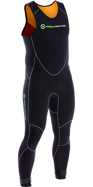 2018 Neil Pryde Junior Elite Firewire 4 / 3mm Long John Wetsuit Black SAB604