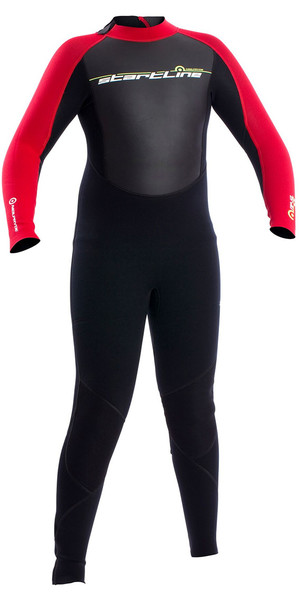 2018 Neil Pryde Junior 3mm Startline Back Zip Flatlock Wetsuit Black / Red SAB702