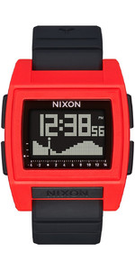 2021 Nixon Base Tide Pro Surf Watch 209-00 - Red / Black