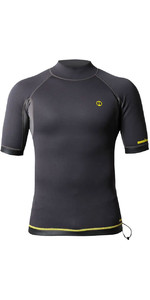 2020 Nookie 1mm Short Sleeve TI Neoprene Vest NE12 - Grey / Yellow