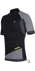 2019 Top Nookie Ti 1mm Neoprene A Maniche Corte Nero / Grigio / Giallo Ne11