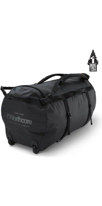 2020 Northcore Wheeled Duffel Bag 110L NOCO123D - Black / Grey