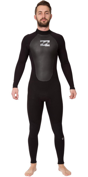 2019 Billabong Intruder 4 / 3mm GBS Voltar Zip Wetsuit PRETO 044M15