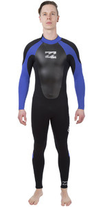 2019 Billabong Intruder 4/3mm GBS Back Zip Wetsuit BLACK / Blue 044M15