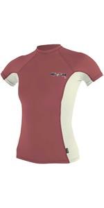 Gilet Rash Collo Alto Manica Corta O'neill Da Donna Premium Skins 4171b - Rosso