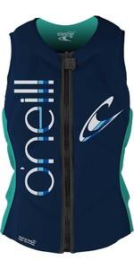 2021 O'Neill Womens Slasher Comp Impact Vest 4531 - Abyss / Aqua