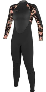 2021 O'Neill Youth Epic 3/2mm Back Zip GBS Wetsuit 4215G - Black / Flo