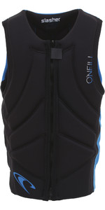 2019 O'neill Youth Slasher Comp Impatto Gilet Nero / Oceano 4940beu