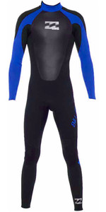 2018 Billabong Junior Intruder 5/4 / 3mm GBS Voltar Zip Wetsuit em PRETO / Azul 045B15