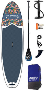2019 O'neill Lifestyle 10'6 Inflable Sup Board , Paddle, Pump, Bag & Leash Flowers