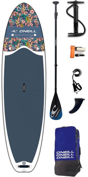 2019 O'Neil Lifestyle 10'6 Oppustelige SUP Board, Padle, Pump, Bag & Leash Flowers