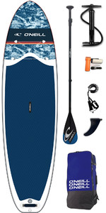 2019 Lifestyle O'neill 10'6 Gonflable Sup Board , Paddle, Pompe, Sac Et Laisse Navy