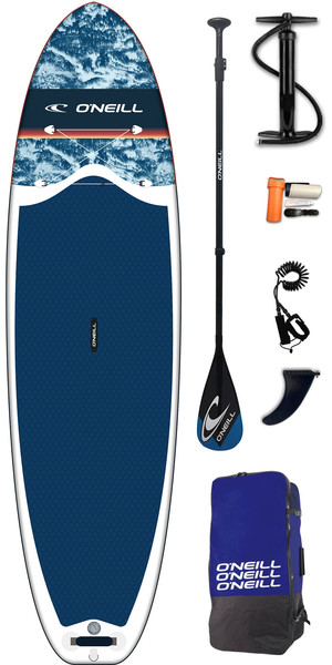 2019 O'Neill Lifestyle 10'6 Tablero SUP hinchable, paleta, bomba, bolsa y correa azul marino