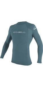 2020 O'Neill Basic Skins Long Sleeve Crew Rash Vest 3342 - Dusty Blue