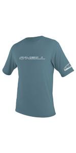 2020 O'Neill Basic Skins Short Sleeve Rash Tee 3402 - Dusty Blue
