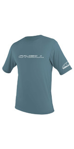 2020 O'Neill Basic Skins Short Sleeve Rash Tee 3402 - Dusty Blue
