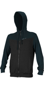 O'neill Hybrid Rash Guard Zip Hoody Zwart / Leisteen 4883