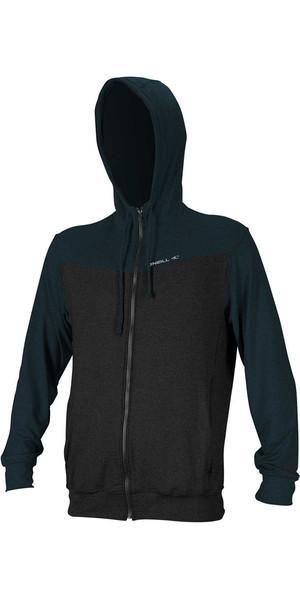 Sweat à capuche zippé O'Neill Hybrid 2018 BLACK / SLATE 4883