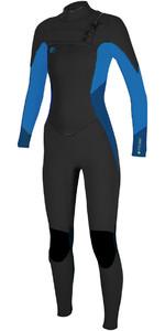 O'Neill Womensuit O'Riginal 3 / 2mm Pecho Zip neopreno NEGRO / SLATE / BLUE 5014 SEGUNDO
