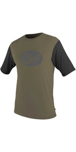 O'Neill Premium Skins Graphic Short Sleeve Rash Tee KHAKI /  BLACK 5077SB